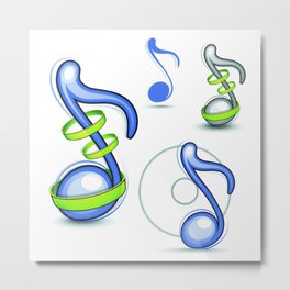 notes musical elements Metal Print
