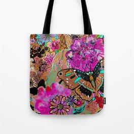 Neon Butterflies Tote Bag