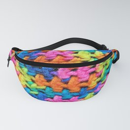 Neon Brights Crochet Stiches Fanny Pack