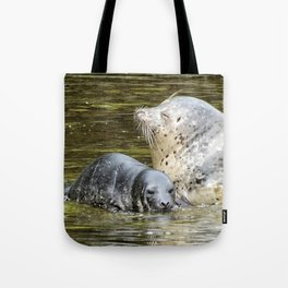 Harbor Seal Sweetness Tote Bag