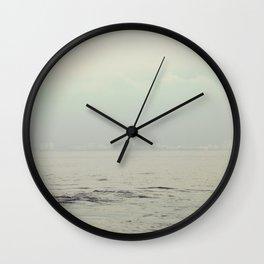 Minimalist sea photo. Simple nautical photography. Modern ocean print. Nature water wall decor Wall Clock