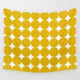 Handdrawn Circle Pattern Wall Tapestry