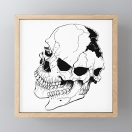 Skull (Fragmented and Conjoined) Framed Mini Art Print