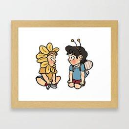 Flowerjohn and Beelock Framed Art Print