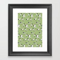 Bird Print - Olive Green Framed Art Print