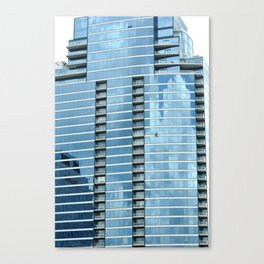 BLUE CHICAGO - CLEANING WINDOWS Canvas Print