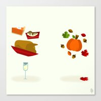 thanksgiving Canvas Prints featuring Thanksgiving & Fall by Derek Temple