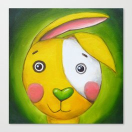 Yellow Rabbit Canvas Print