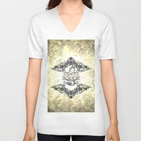 decorative V-neck T-shirts featuring Decorative clef by nicky2342