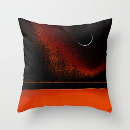March New Moon Throw Pillow