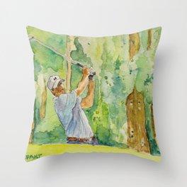 Jordan Spieth Pro Golfer Throw Pillow