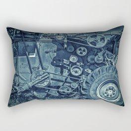 Frosted Combine Harvester Agro Art Rectangular Pillow