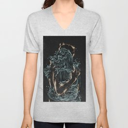 Water and fire. Unisex V-Neck