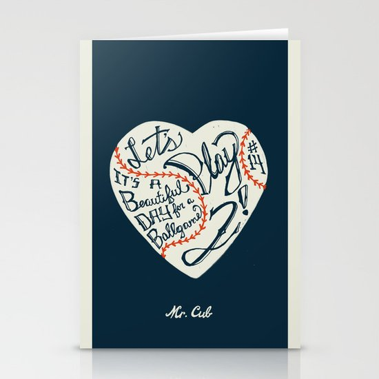 Mr. Cub Stationery Cards