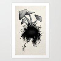 mushrooms Art Prints featuring Mushrooms by Nicklas Gustafsson