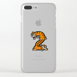 The Two Tiny Tigers Clear iPhone Case