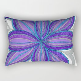 Bloom in Aqua & Purple Rectangular Pillow