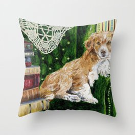 Sir Beckett, Dog With An Education Throw Pillow