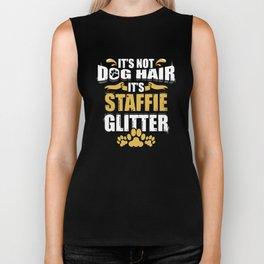 It's Not Dog Hair It's Staffie Glitter Biker Tank