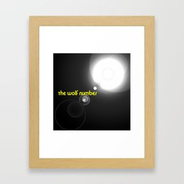 The wolf number Framed Art Print