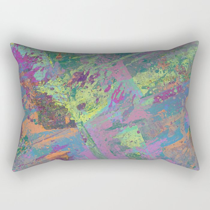 Abstract Thoughts 2 - Textured, painting Rectangular Pillow