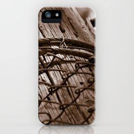 Fallen Fence Post iPhone Case