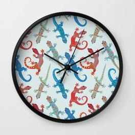 Gecko Madness Wall Clock
