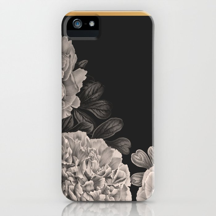 flowers on a winter night iphone case