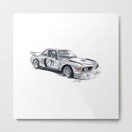 BMW CSL sharknose racing car. Metal Print