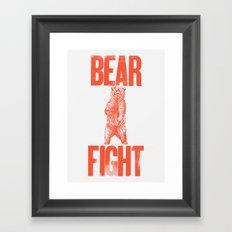 Bear Fight Framed Art Print