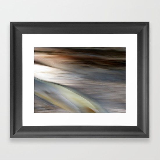 Stringy Bark Abstract Framed Art Print