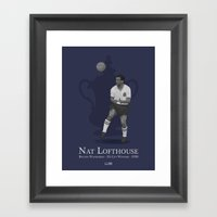 Nat Lofthouse - Bolton Wanderers - 1958 FA Cup Winner Framed Art Print