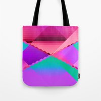 computer Tote Bags featuring Computer Dreams by Blank & Vøid