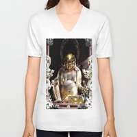 nirvana V-neck T-shirts featuring NIRVANA by AlehandroMariaRizla