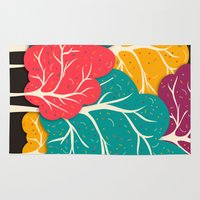 forest Area & Throw Rugs featuring Happy Forest by Danny Ivan