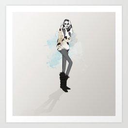 Fall Girl Art Print