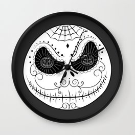 Jack's Skull Sugar (Vector Mexican Skull) Wall Clock