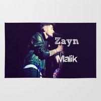zayn Area & Throw Rugs featuring Zayn Malik Singing by Marianna