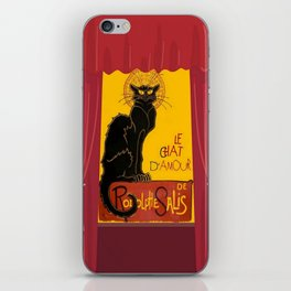 Le Chat D'Amour with Theatrical Curtain Border iPhone Skin
