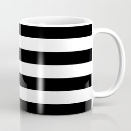 Stripe Black & White Horizontal Coffee Mug