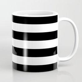 Stripe Black & White Horizontal Coffee Mug