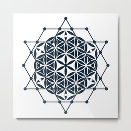 Flower of Life, Sacred Geometry Metal Print