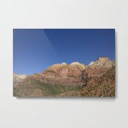 The Streaked Wall - Zion National Park, Utah Metal Print