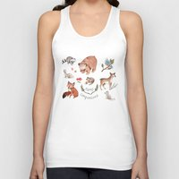 camp Tank Tops featuring Camp Companions by Brooke Weeber