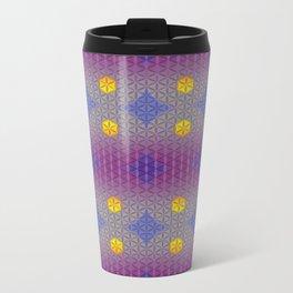 LIBRA sun sign Flower of Life Pattern Metal Travel Mug