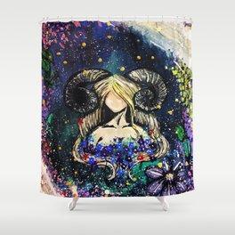 Faceless Aries Shower Curtain