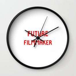 Future Filmmaker Red Film School Student Wall Clock
