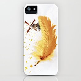 Air Feather • Yellow Feather (vertical) iPhone Case