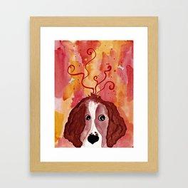 Red Springer Spaniel Framed Art Print