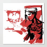 poland Canvas Prints featuring Poland by viva la revolucion